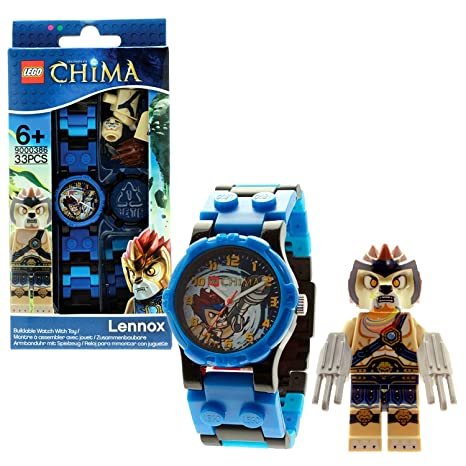 Lego Year 2013 Legends of Chima Series Watch with Minifigure Set #9000416 - LENNOX Watch