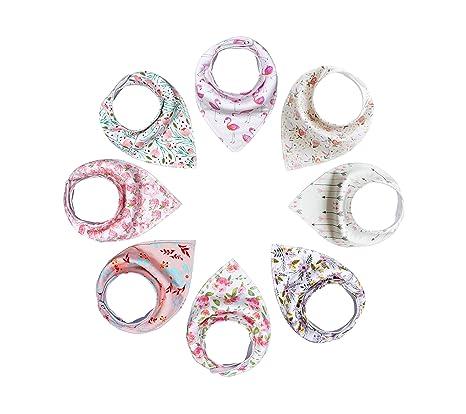 Bebedou Lovely algodón bordado Bandana baberos recién nacido Gift Pack de 6 unidades super absorbente Drool baberos, Baby Shower Regalos, Niños, ...