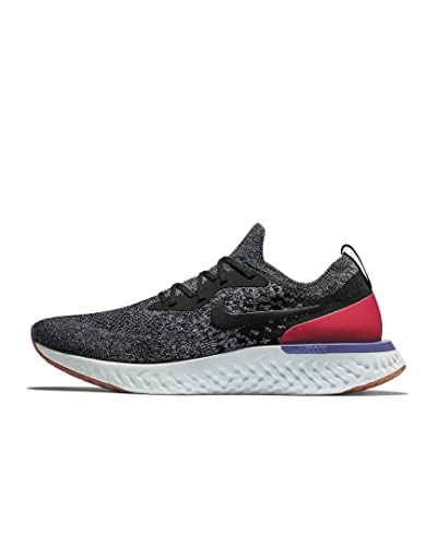 813acd2d2350 Nike Men s Epic React Flyknit Running Shoes Schwarz Black-White-red Orbit  006 7