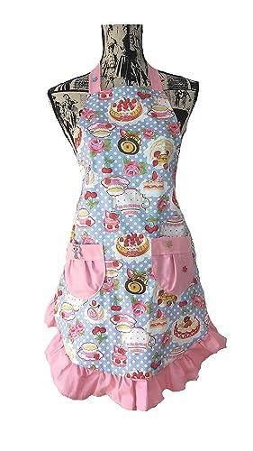 Tablier de cuisine rétro chic femme année 50 vintage gateaux ...