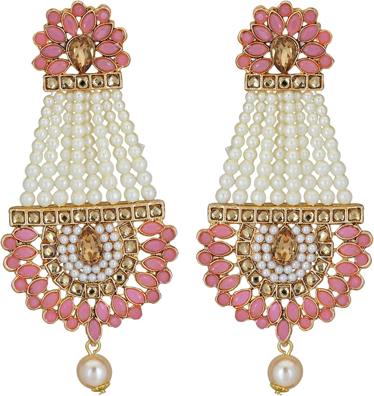 Jwellmart Indian Gold Plated Traditional Ethnic Jhumka Dangle Earrings Jewelry