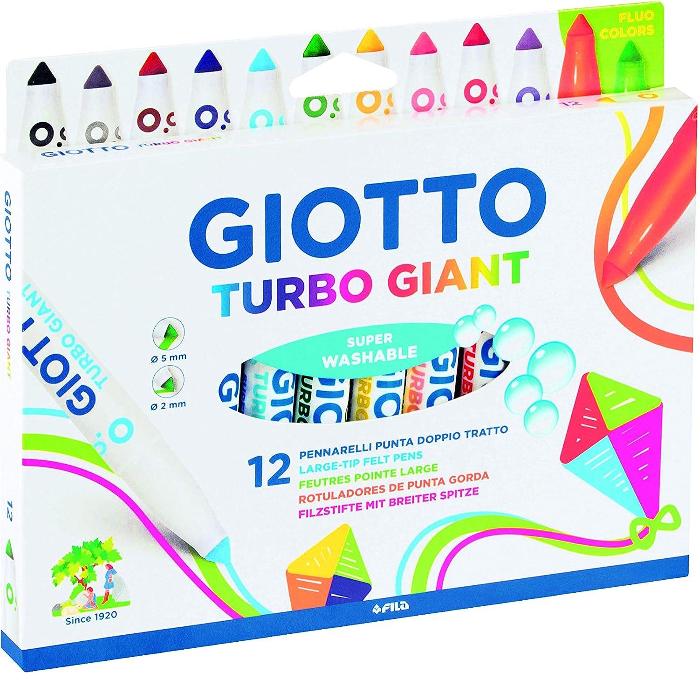 1 scuola disegno ufficio Pennarelli GIOTTO FILA turbo maxi da 6 colori  conf