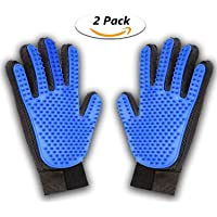 TOPELEK [Updated Version Pet Grooming Glove Brush, Deshedding Tool, for Removing Pet Shedding Hair, Pet Massage and Bathing Brush Or Comb, for Dogs, Cats, Horses(2 Pack Left&Right)