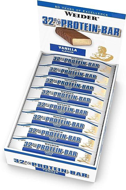 Weider 32% Protein Bar, Vainilla - 24 Barras