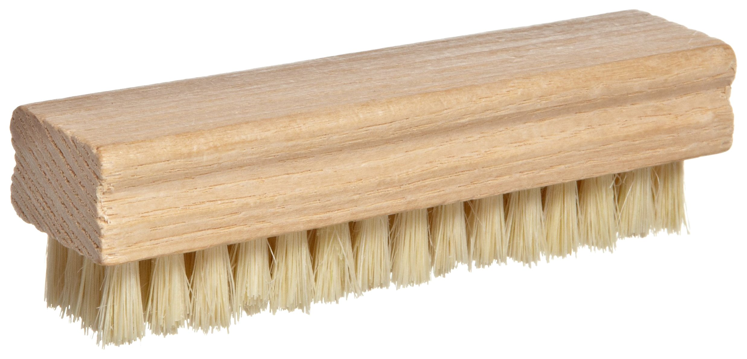 Magnolia Brush 176 Hand and Nail Brush, Tampico Bristles, 5/8'' Trim, 4-3/4'' Length x 1-1/4'' Width, White (Case of 36)