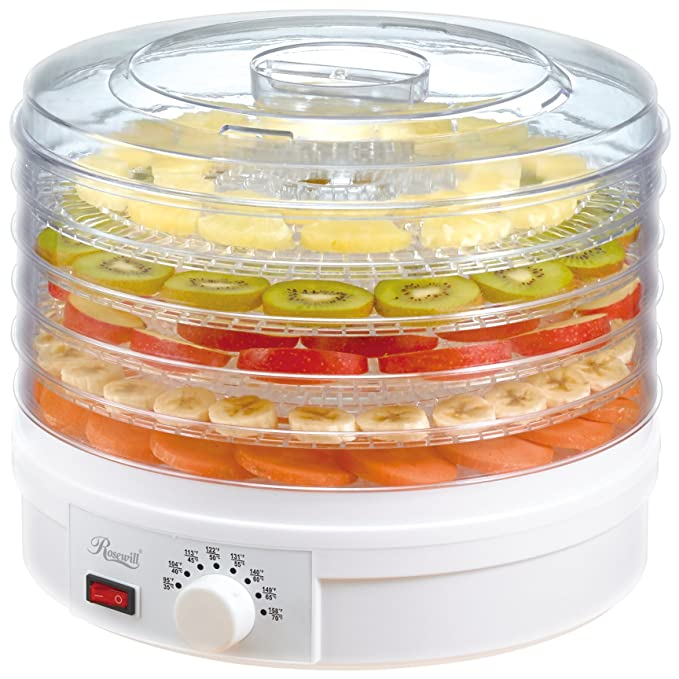 Rosewill Countertop Portable Electric Food Fruit Dehydrator Machine with Adjustable Thermostat, BPA-Free 5-Tray RHFD-15001 Pots & Pans at amazon