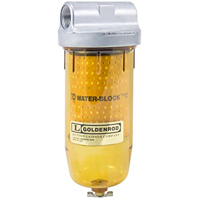 "GOLDENROD 496-3/4 Water-Block (56591) Bowl Fuel Tank Filter with 3/4"" NPT Top Cap: Automotive"
