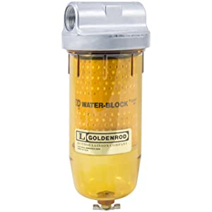 "GOLDENROD 496-3/4 WATER-BLOCK FILTER (56591) Bowl Fuel Tank Filter with 3/4"" NPT Top Cap"