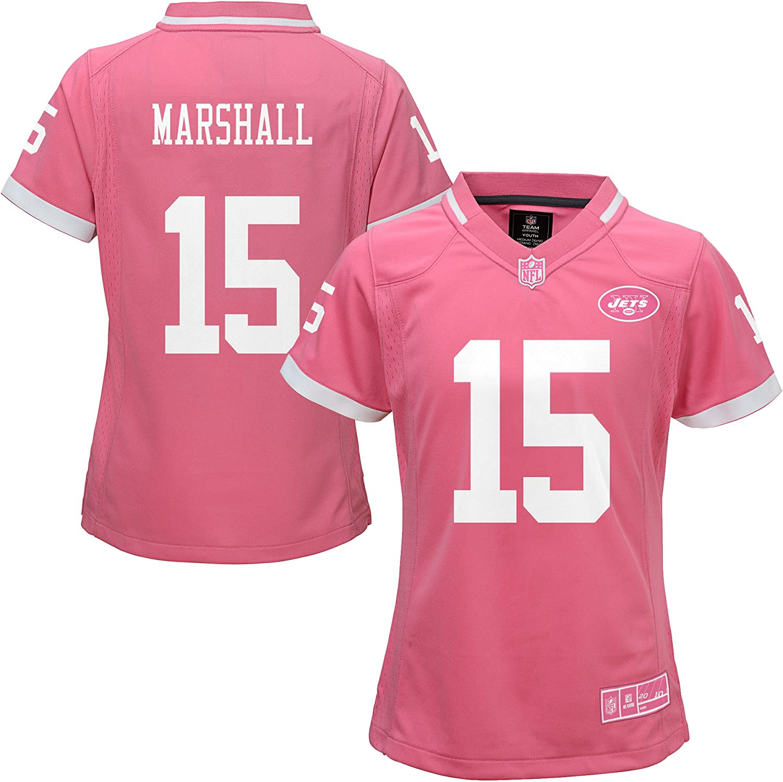 Amazon.com: Brandon Marshall New York Jets #15 Bubble Gum Pink NFL ...