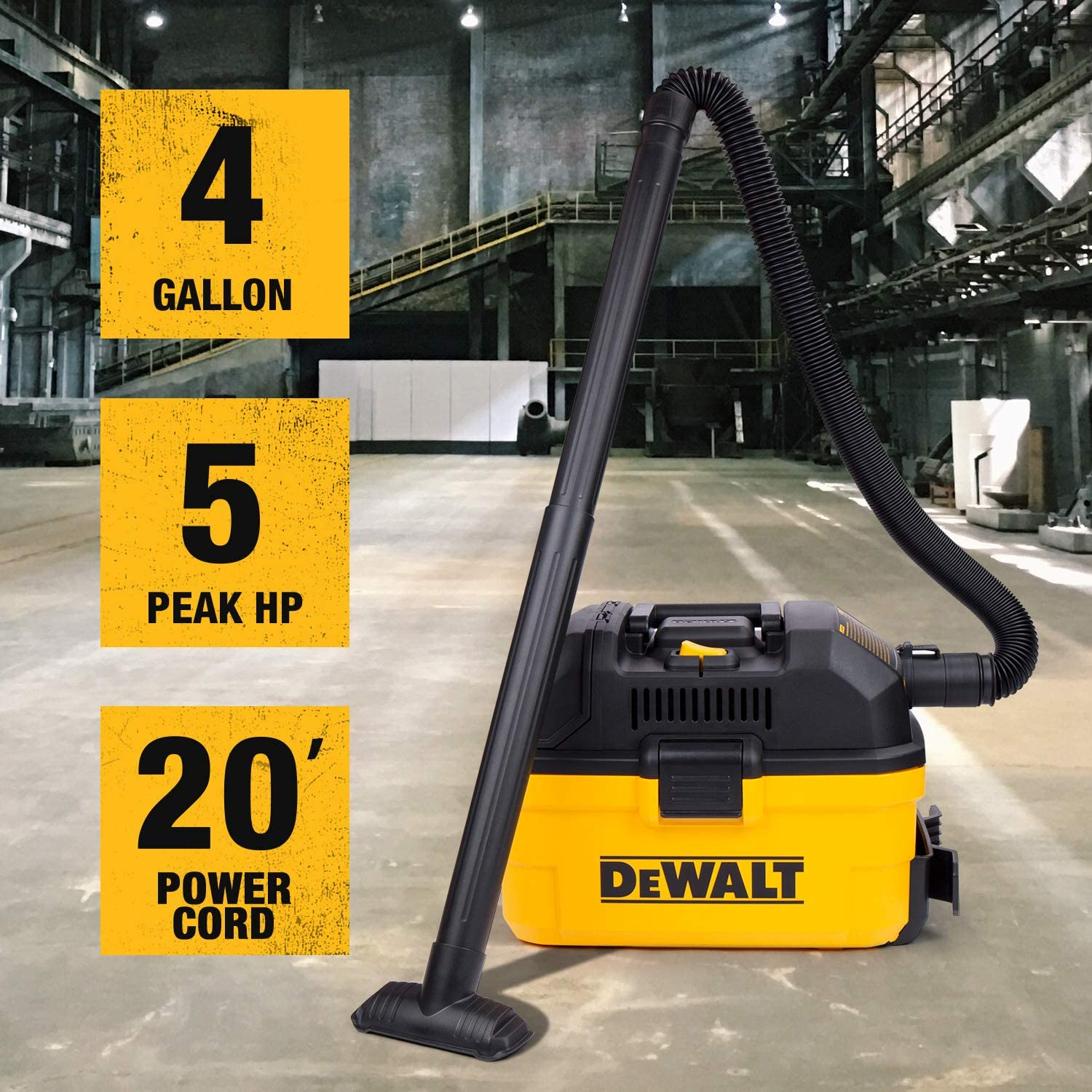 DeWALT Portable 4 Gallon Wet//Dry Vaccum Yellow /& Workshop Wet//Dry Vacs Vacuum Accessories WS17854A 1-7//8-Inch Shop Vacuum Attachment Kit for Use with A Shop Vacuum with Homeowners in Mind