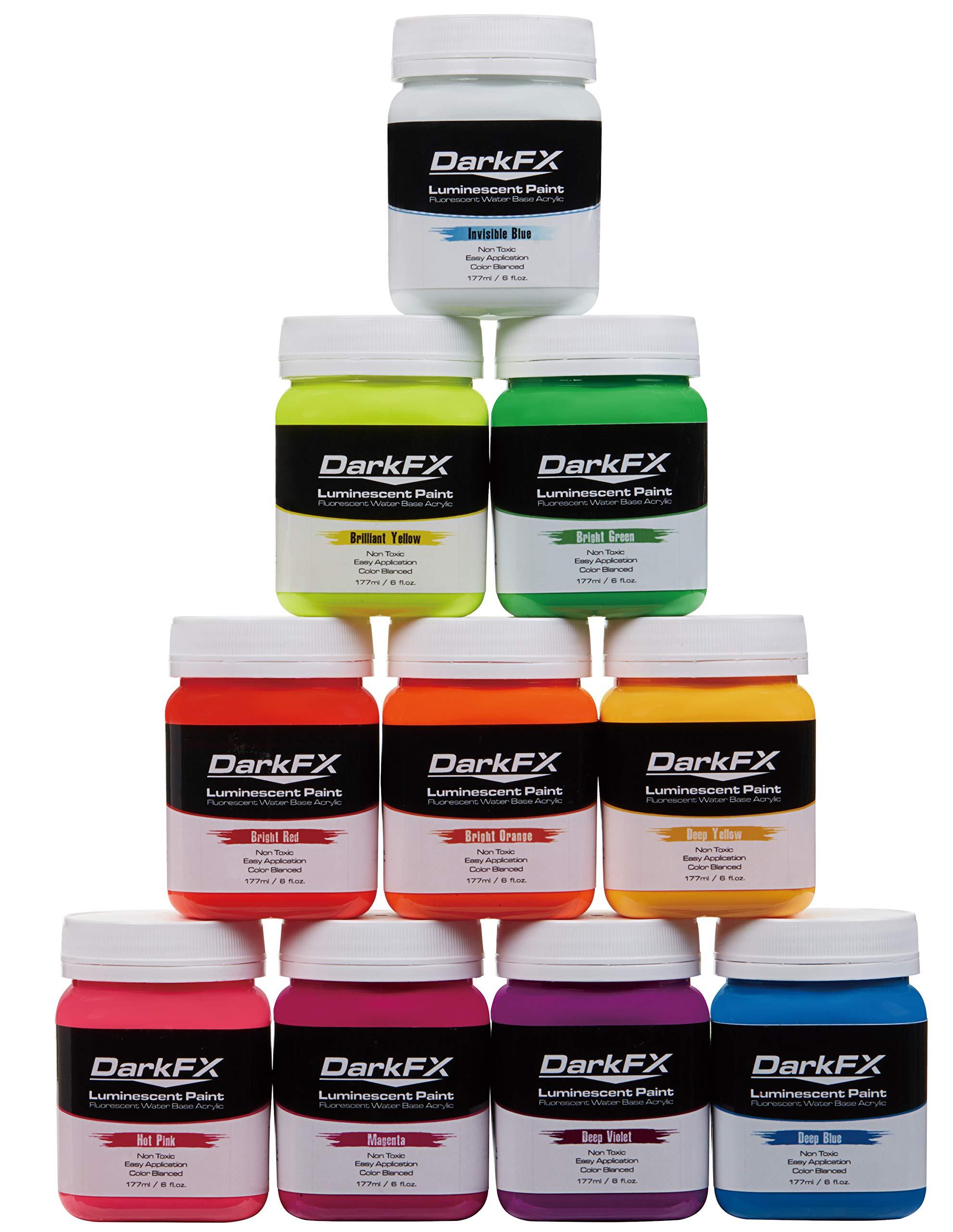 Antari DarkFX UV Luminescent Paint Variety Pack
