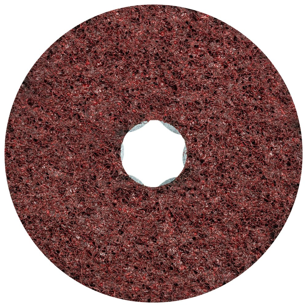 PFERD 48095 Combiclick Non-Woven Disc 12,000 RPM Hard Type Pack of 10 4 Diameter Medium Grit