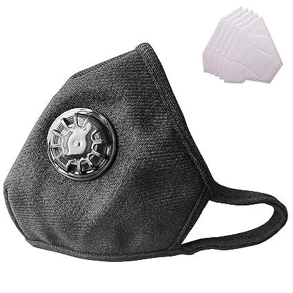 Militar Algodón Reemplazable Con Lyanty Antipolución 5 Máscaras Boca Grado Válvula una N99 Lavables Filtro Máscara De