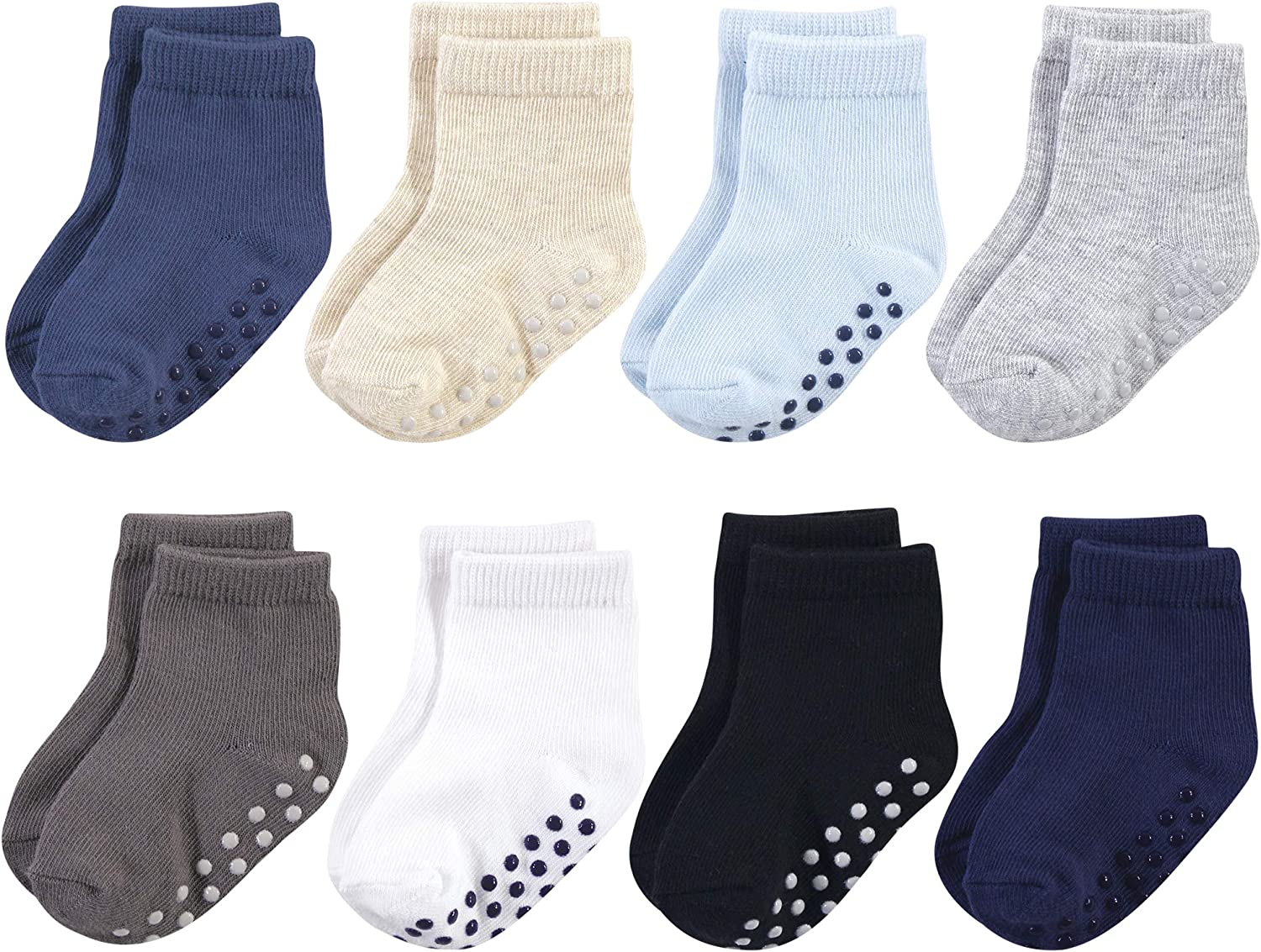 Touched by Nature Baby Organic Cotton Socks with Non-Skid Gripper for Fall Resistance