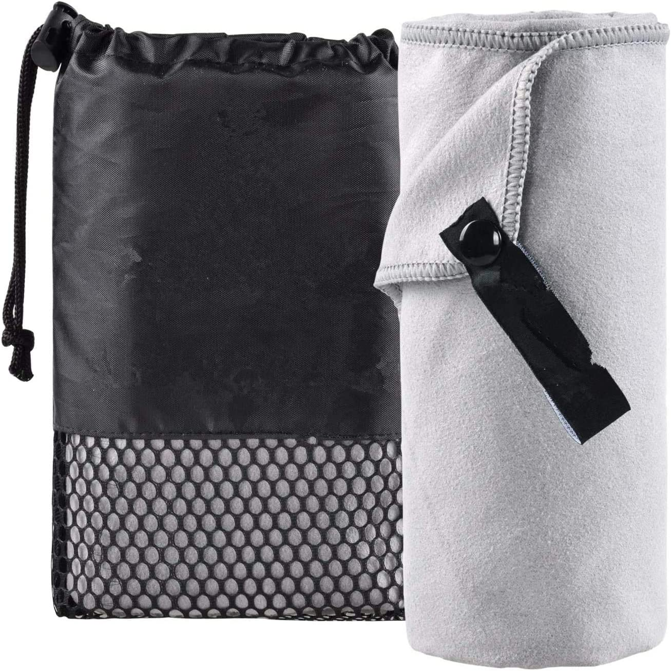 Idea2go Microfiber Travel Towel, Fast Drying Towel for Travel, Beach,Yoga, Golf, Gym,Camping, Backpacking, Hiking, Sports and Swimming. Sweat Absorbent, Lightweight and Ultra Compact: Home & Kitchen