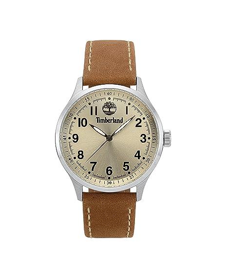 Timberland Reloj Analógico para Hombre de Cuarzo con Correa en Cuero TBL15353JS.07: Amazon.es: Relojes