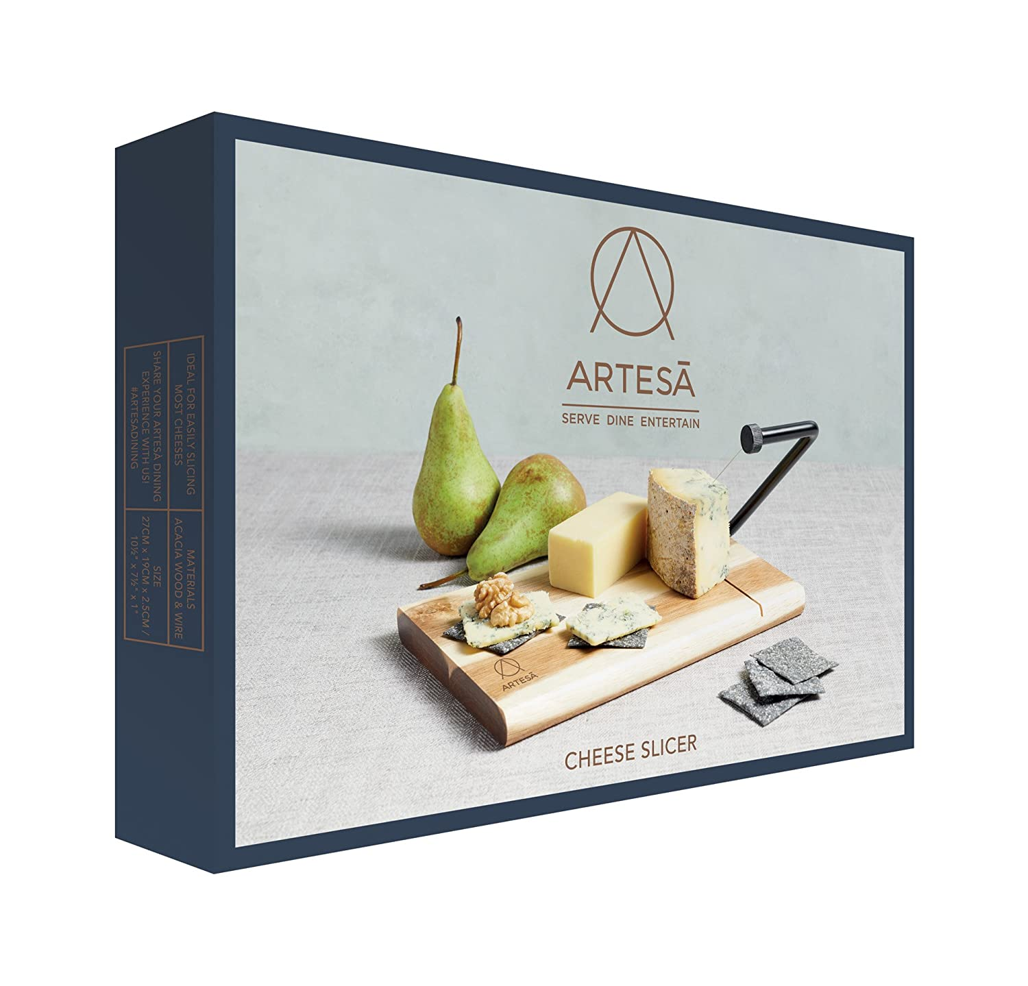 Kitchen Craft MasterClass Artesà Acacia Wood Wire Cheese Slicer ...