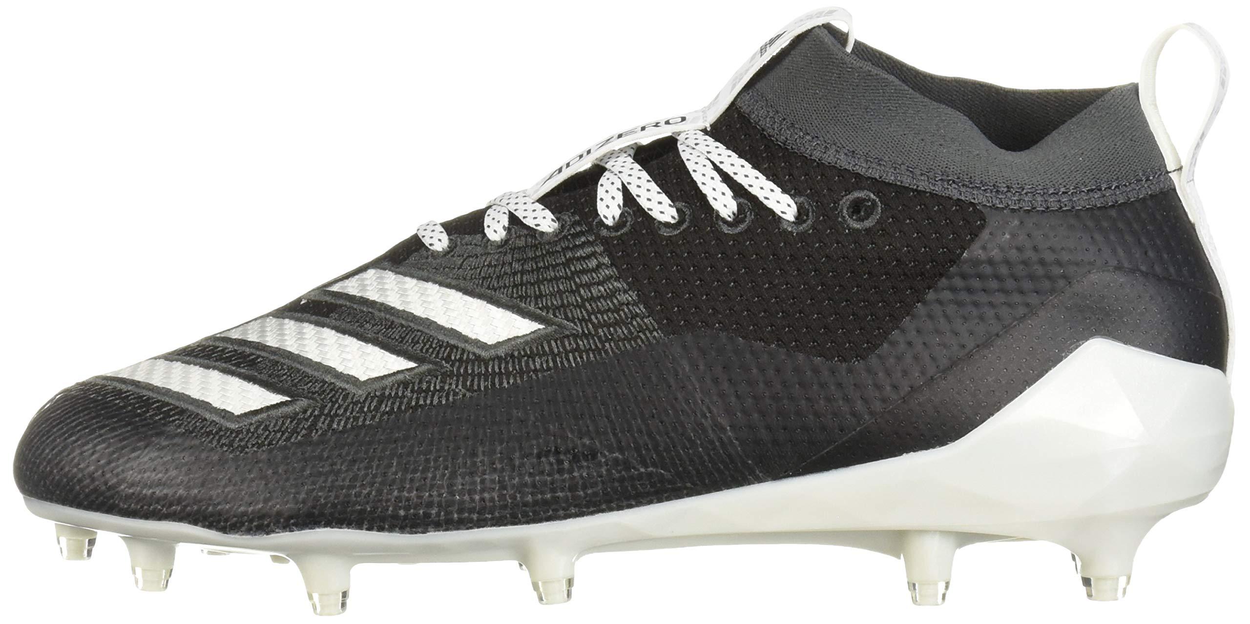 adidas Men's Adizero 8.0 Football Shoe Black/White/Grey 6.5 M US by adidas (Image #5)
