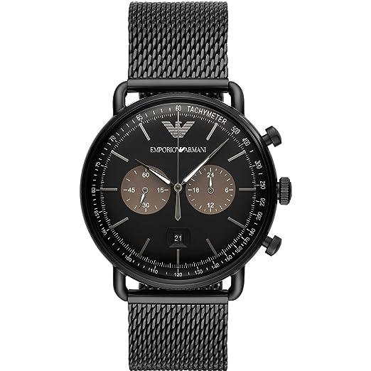 Emporio Armani Reloj Cronógrafo para Hombre de Cuarzo con Correa en Acero Inoxidable AR11142: Amazon.es: Relojes