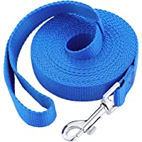 Dog Leash, 6 meters/19.7 feet Pet Lead for Off-Leash Recall Training. Premium Quality Nylon Tie Out, Great for Yard…