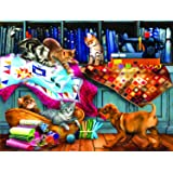 Quilting Room Mischief 300 pc Jigsaw Puzzle by SUNSOUT INC