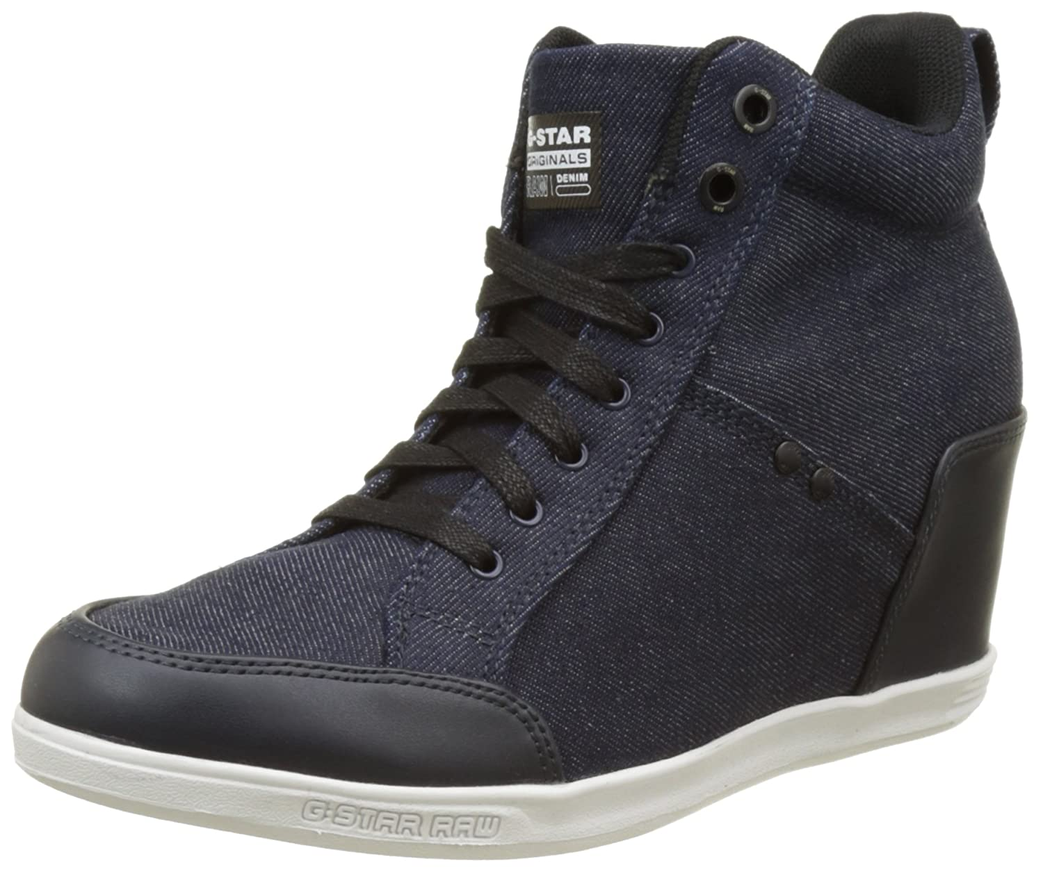 TALLA 40 EU. G-STAR RAW New Labour Wedge, Zapatillas Altas para Mujer
