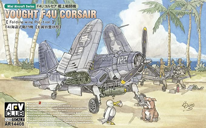 Amazon.com: AFV CLUB 1/144 Vought F4U Corsair Kit de modelo ...