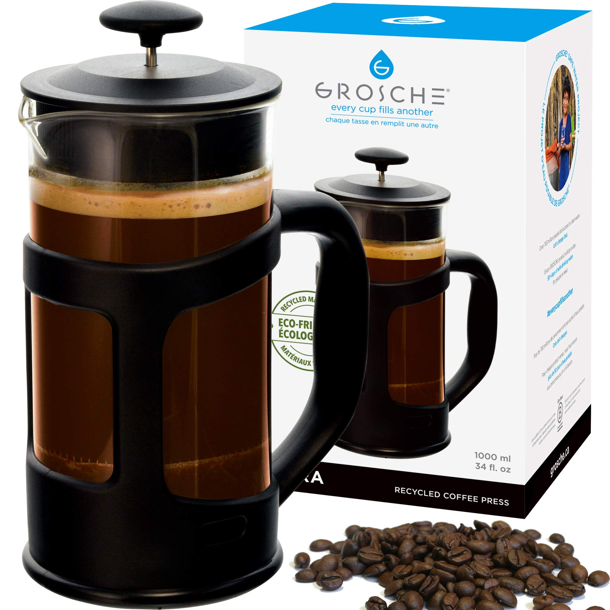 GROSCHE TERRA Recycled French Press - The worlds