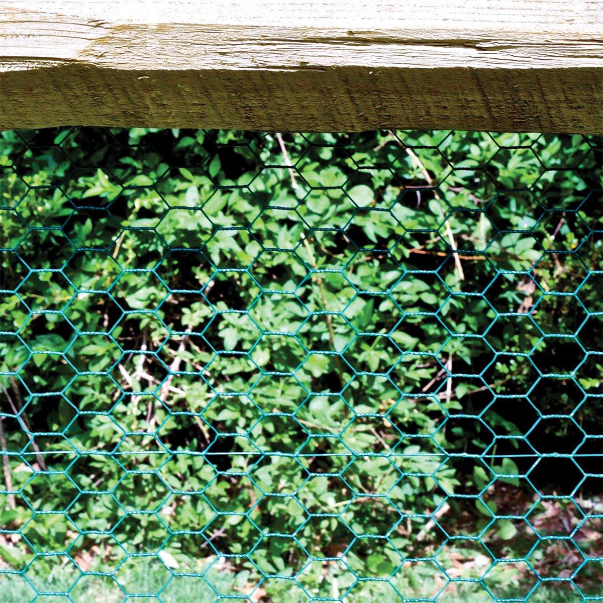 Garden Zone 24inx25ft 1in Green Vinyl Poultry Netting by Origin Point (Image #4)