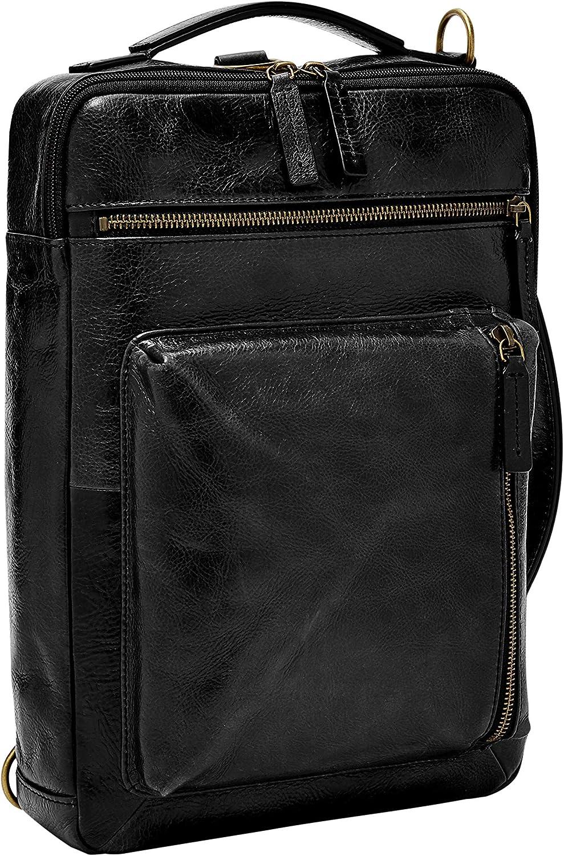 Fossil Men's Buckner Leather Large Convertible Sling Bag