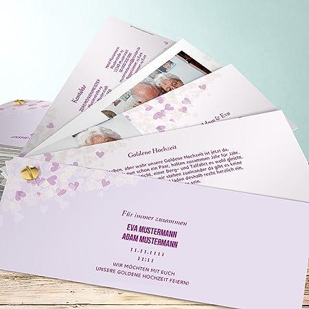 Einladungskarte Goldene Hochzeit Selbst Gestalten 1000