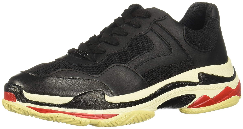0e7b47e9b8e Amazon.com | Steve Madden Women's Nassau Lace-Up Sneakers, Black ...