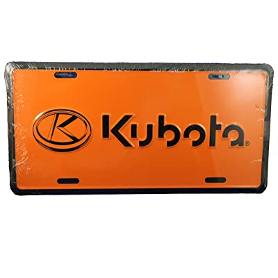 Kubota License Plate with Logo (orange): Automotive