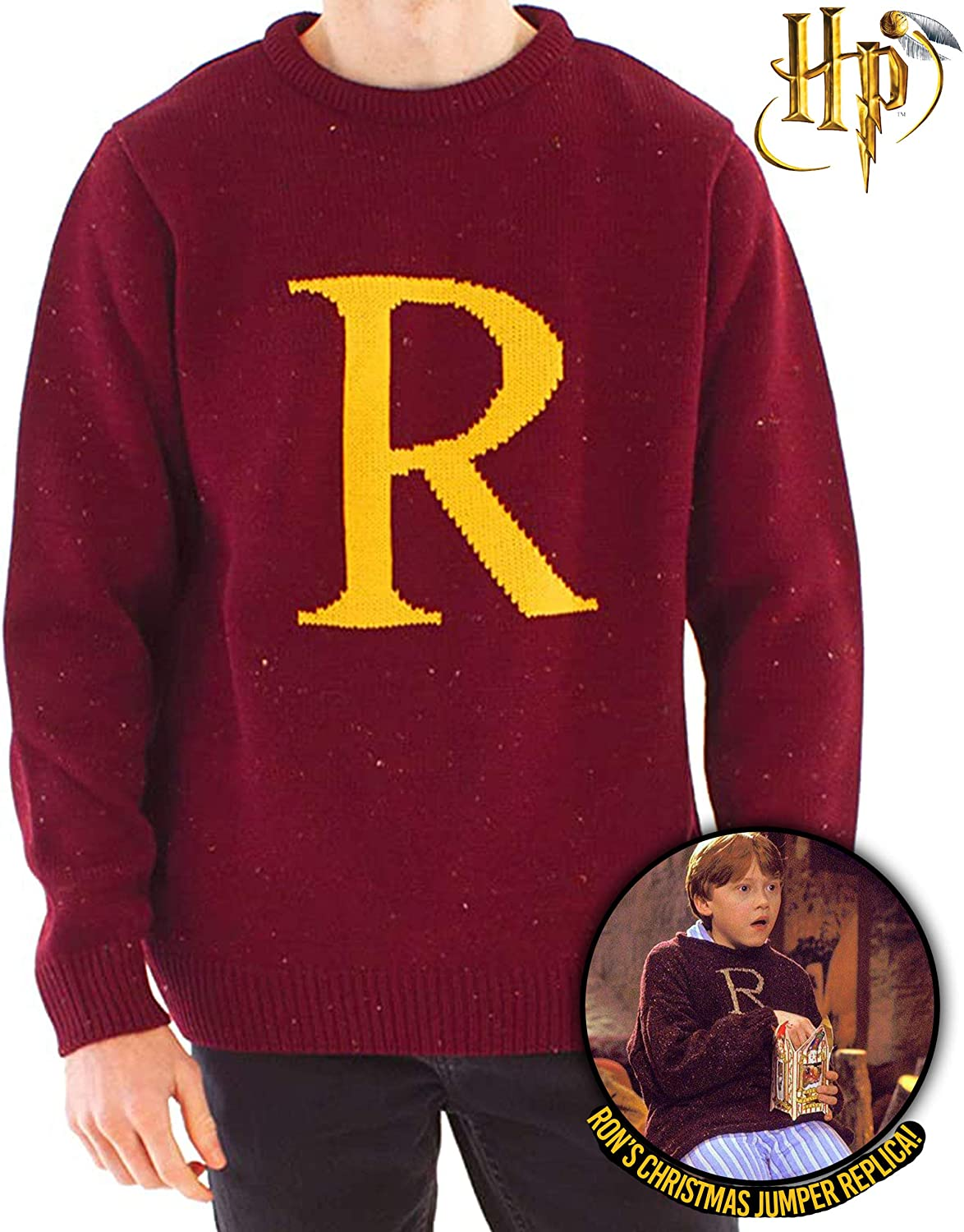 HARRY POTTER Ron Weasley Letter R Premium Knitted Unisex ...