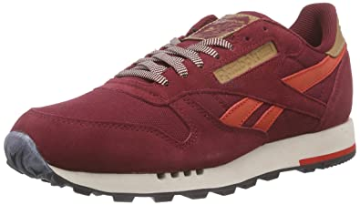 2df6a69ab3e2 Reebok Classic Leather Utility, Baskets Basses Homme, Rouge-Rot (Collegiate  Burgundy/