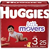 Diapers Size 3 - Huggies Little Movers Disposable Baby Diapers, 25ct, Jumbo Pack