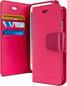 Goospery Sonata Wallet for Apple iPhone 8 Plus Case (2017) iPhone 7 Plus Case (2016) Leather Stand Flip Cover (Hot Pink) IP7P-SON-HPNK