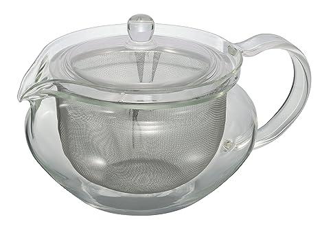 Tea Accessories 1 Cup Home & Kitchen Hario ChaCha Fukami Glass Tea Pot