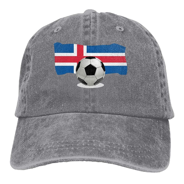 Wfispiy Hombres Mujeres Balón de fútbol Bandera de Islandia Gorra ...
