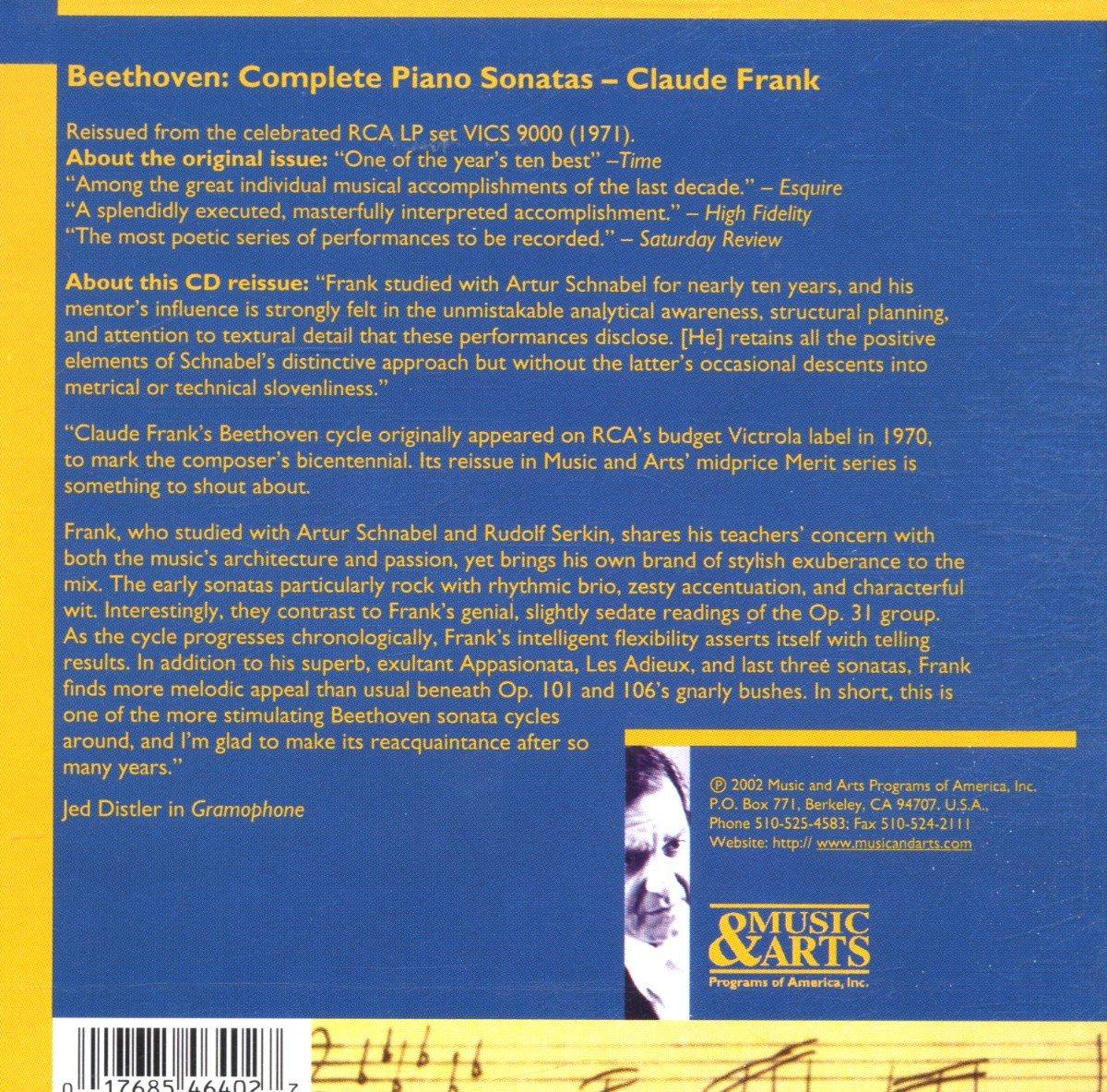 Ludwig van Beethoven, Claude Frank - Beethoven: Complete Piano ...