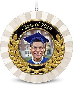 Hallmark Keepsake Christmas Ornament Year Dated Congrats, Grad Picture Frame Porcelain and Metal, 2019 Graduation