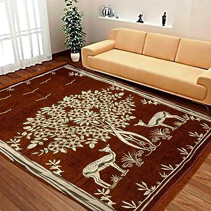 Red Hot Designer Velvet Carpet - 60 x 84