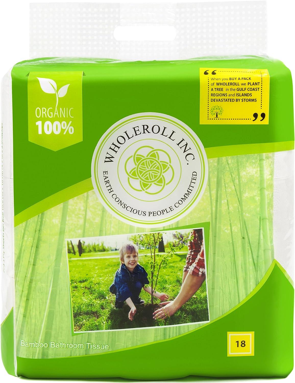 Papel higiénico de bambú orgánico de Wholelrol, sin árboles ...