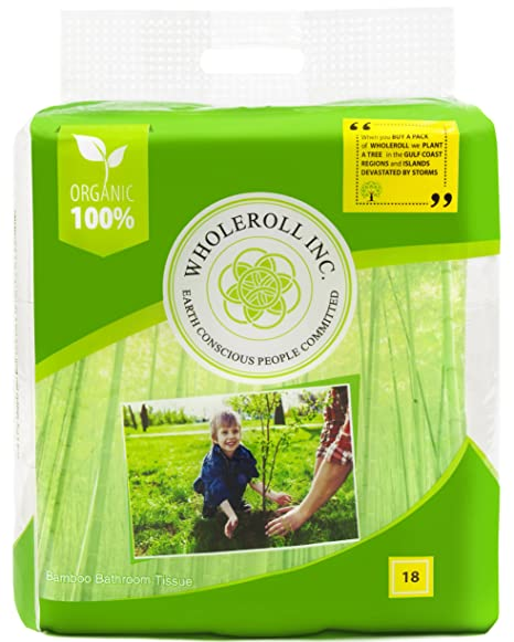 Amazon.com: WHOLEROLL Organic Toilet Paper, Bath Tissue, Baby Soft ...