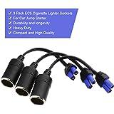 Cateck (3-Pack) EC5 Adaptador de Ranura para Encendedor de Cigarrilos para Mini Cables de Arranque e Impulsor para Batería de Coche