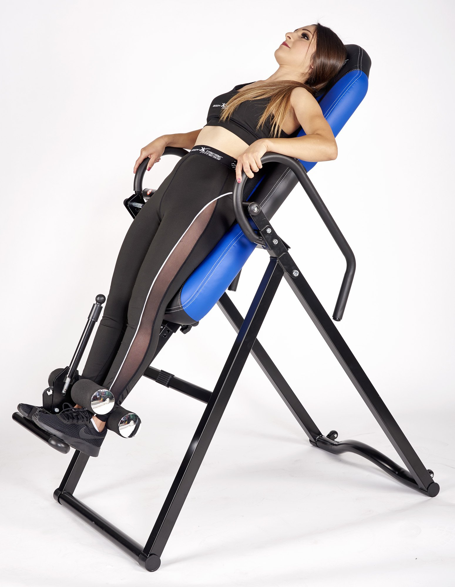 Body Xtreme Fitness ~ Inversion Table, Advanced Heat and Massage Therapeutic Inversion Table, Comfort Foam Backrest, Back Fitness Therapy Relief + BONUS Cooling Towel by Body Xtreme Fitness USA (Image #3)
