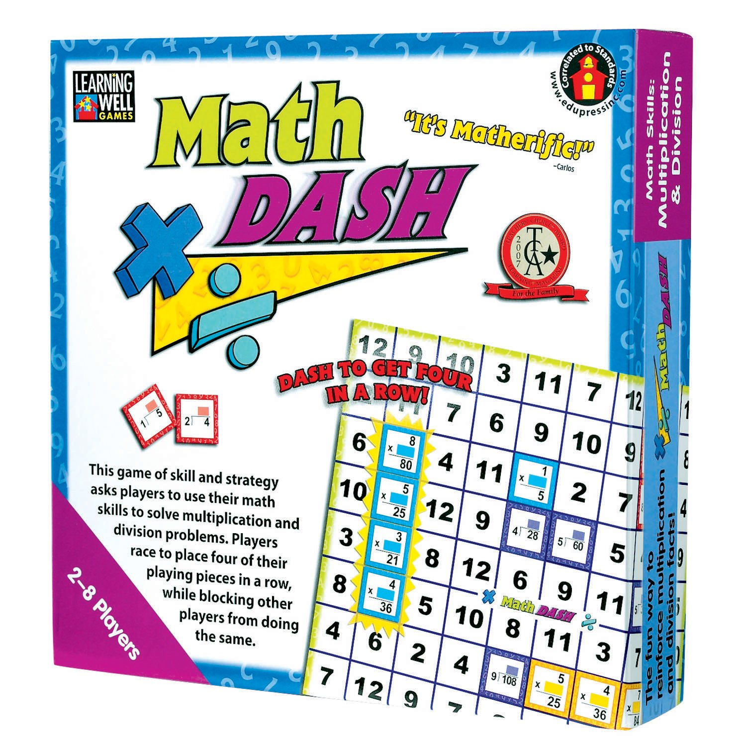 Learning Well Games by Edupress, Math Dash/Math Skills Multiplication & Division (EP62349)