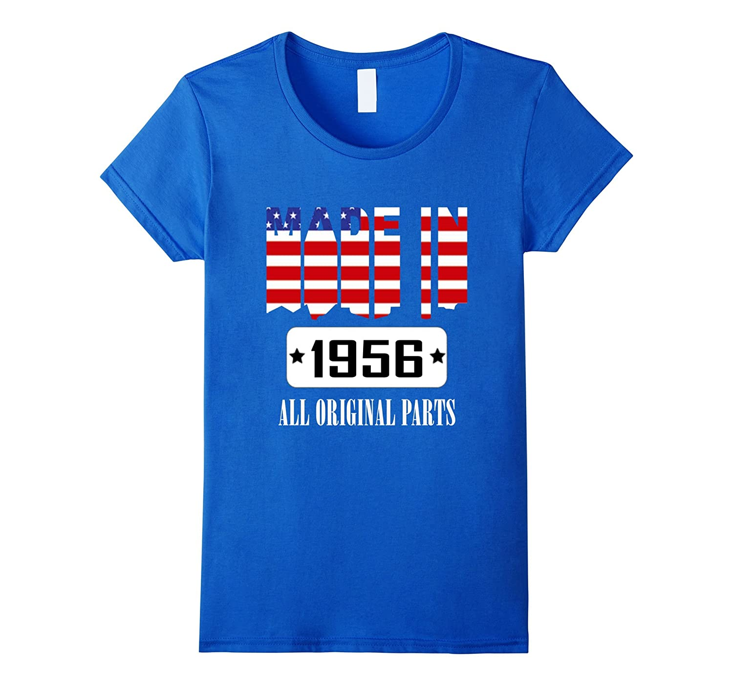 61th Birthday T-Shirt, Made In 1956 All Original Parts
