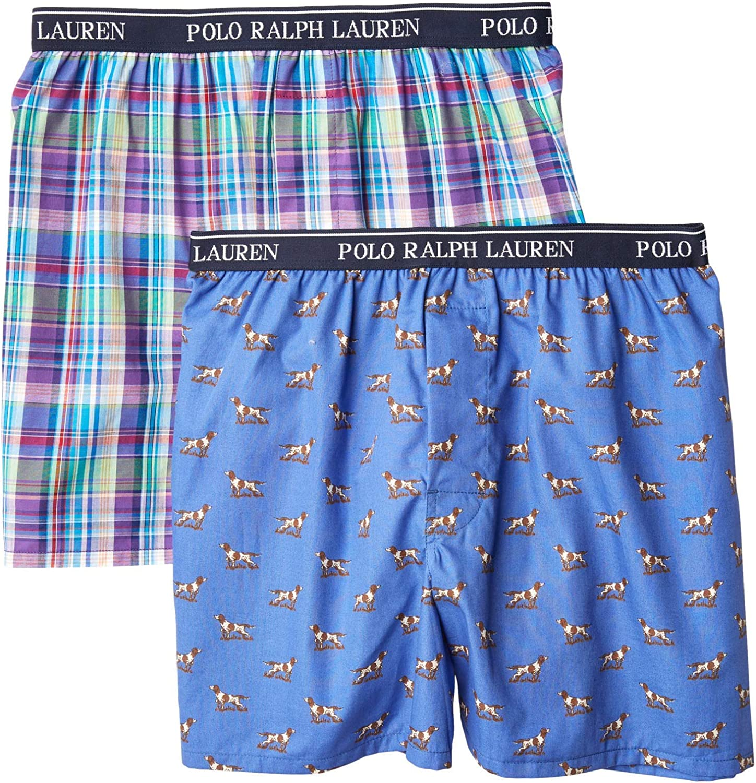 Little Kids//Big Kids Polo Ralph Lauren Kids Boys 2-Pack Woven Boxers