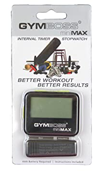 Gymboss miniMAX Interval Timer and Stopwatch - Black/Yellow SOFTCOAT